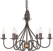 Windermere 6 Light Fitting in a Rust/Gold Patina - ELSTEAD WM6